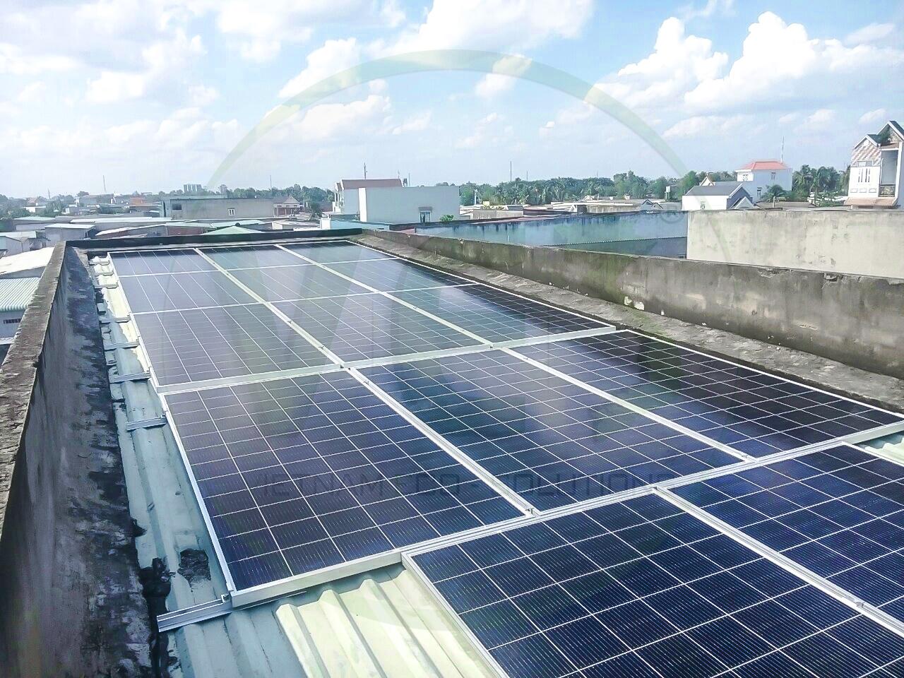 VES lắp đặt điện năng lượng mặt trời cho khách hàng Anh Mạnh tại Long An