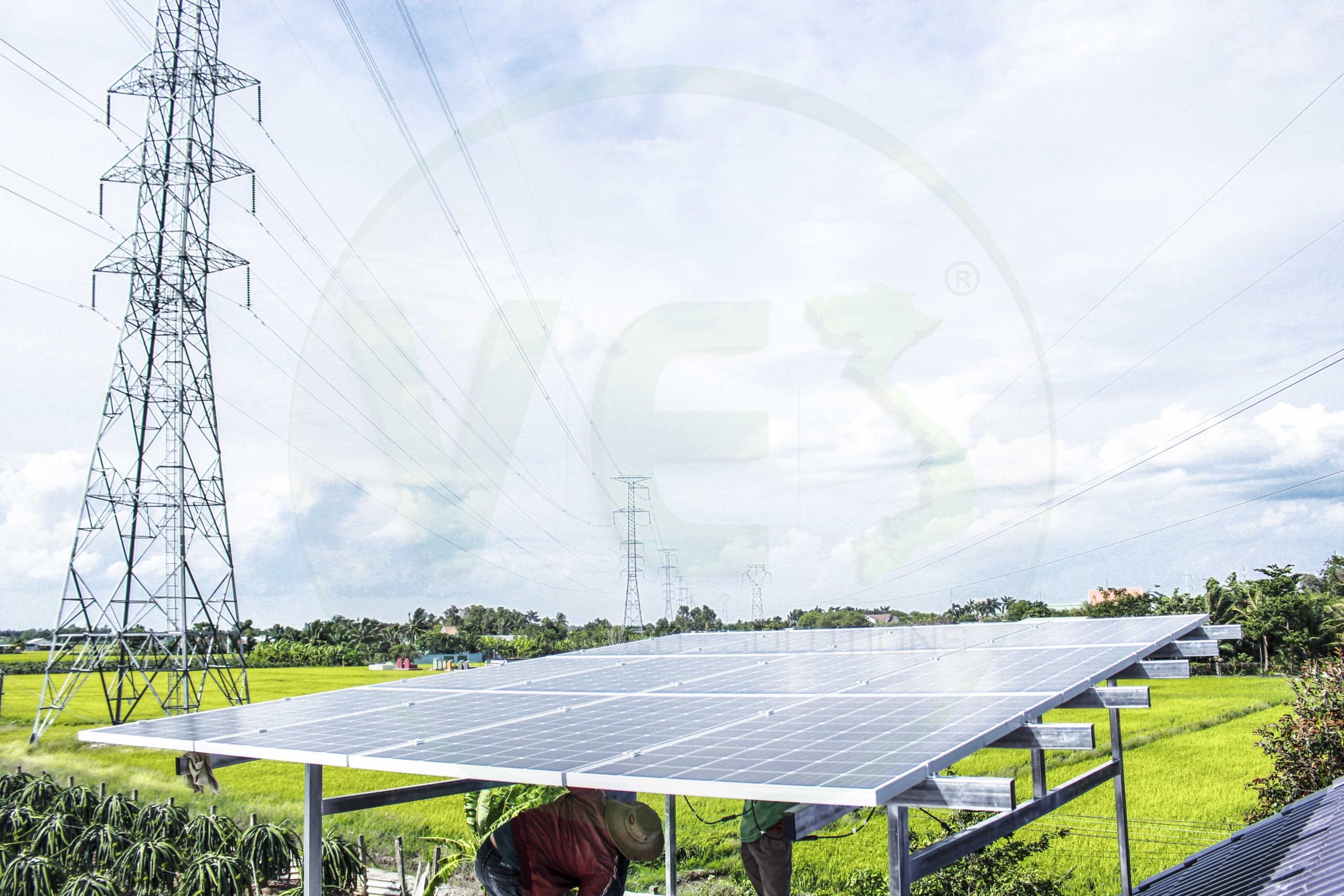 VES lắp đặt điện năng lượng mặt trời cho khách hàng Anh Vũ tại Long An