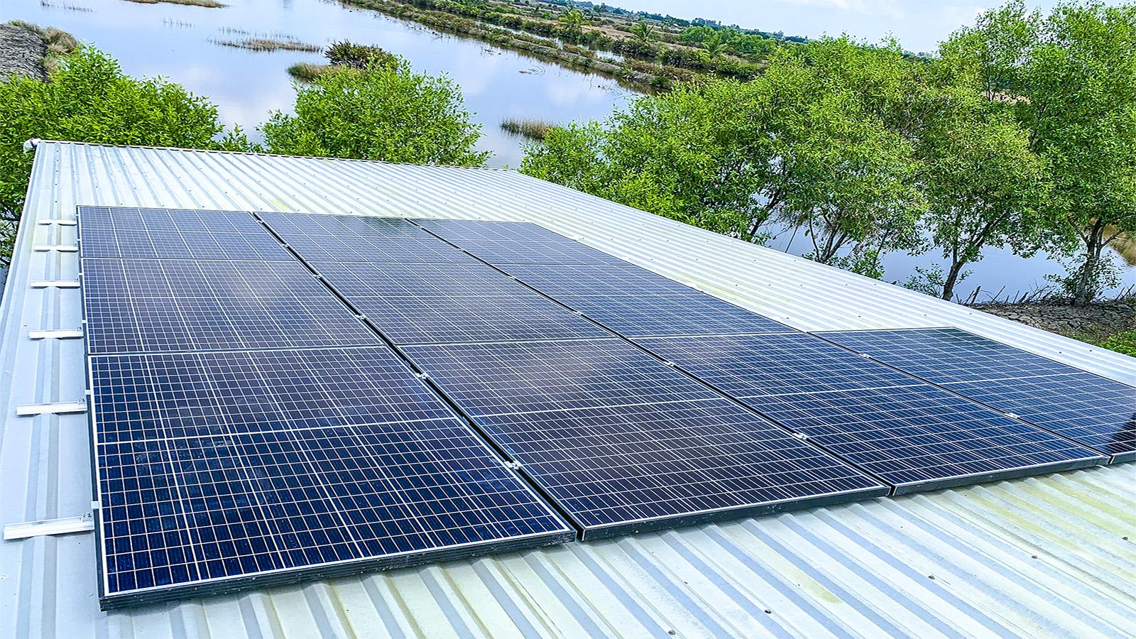 VES lắp đặt điện năng lượng mặt trời cho khách hàng Anh Phi tại Cà Mau