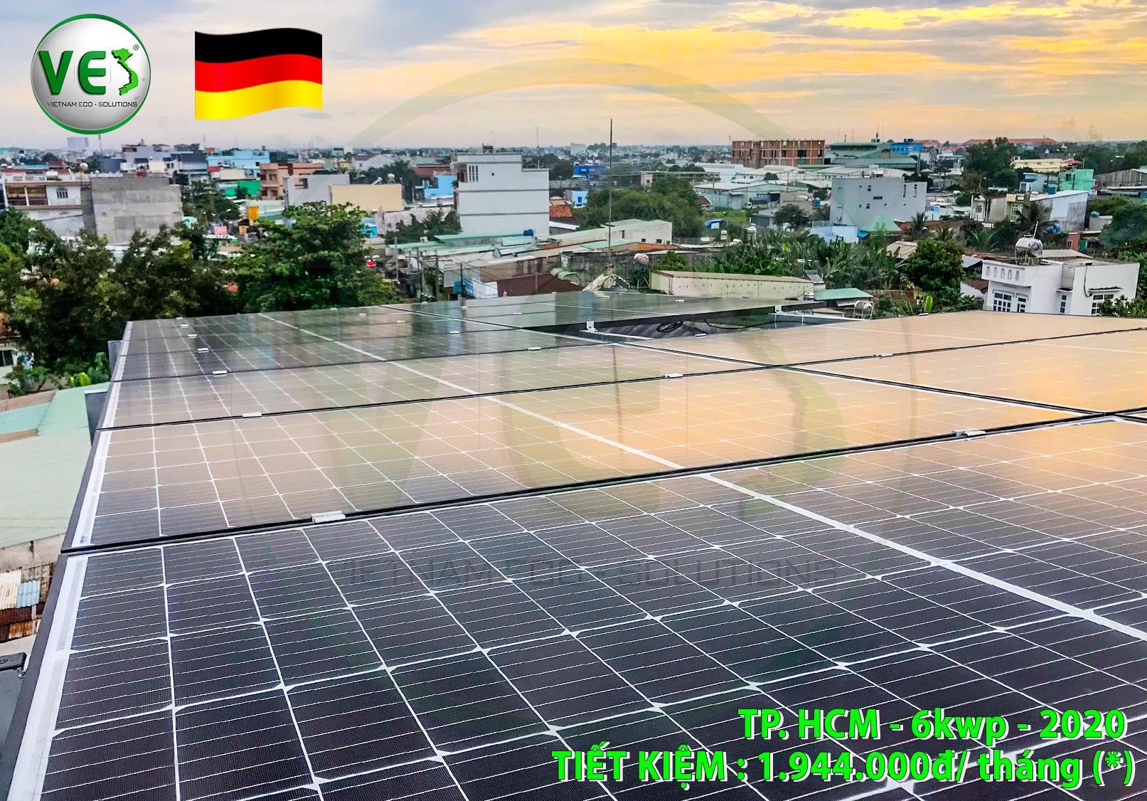 VES lắp điện năng lượng mặt trời cho khách hàng